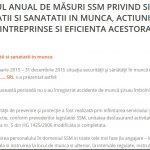 Raport anual de masuri SSM