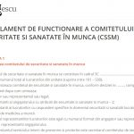 Regulament de functionare