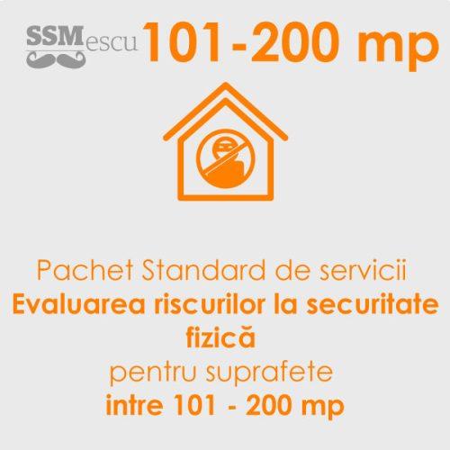 Analiza de risc la securitate fizica pentru suprafete intre 101 - 200 mp