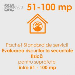 Analiza de risc la securitate fizica pentru suprafete intre 51 - 100 mp