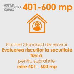 Analiza de risc la securitate fizica pentru suprafete intre 401 - 600 mp