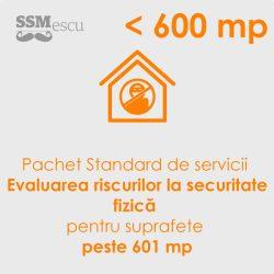Analiza de risc la securitate fizica pentru suprafete mai mari de 601 mp