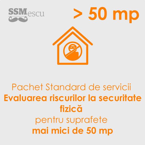 Analiza de risc la securitate fizica pentru suprafete sub 50 mp