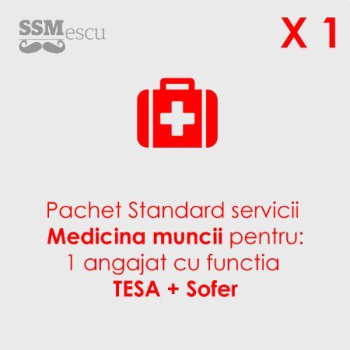 Medicina muncii pentru 1 angajat cu functia TESA cu atributii de sofer