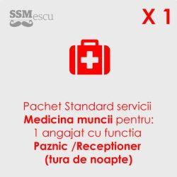 Medicina muncii pentru 1 angajat cu functia Paznic-Receptioner