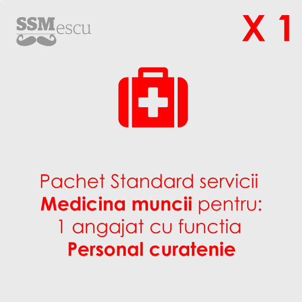 Medicina muncii pentru 1 angajat cu functia Personal curatenie