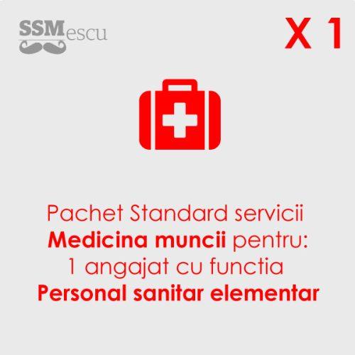 Medicina muncii pentru 1 angajat cu functia Personal Medical Elementar