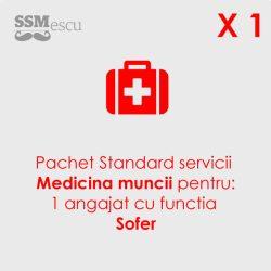 Medicina muncii pentru 1 angajat cu functia Sofer