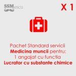 Medicina muncii pentru 1 angajat substante chimice