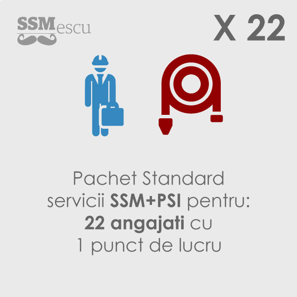 SSM + PSI pentru 22 angajati si 1 punct de lucru