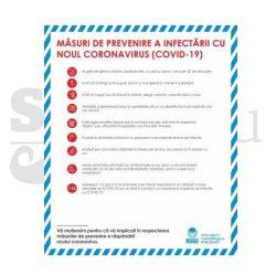 Autocolant masuri prevenire infectare COVID-19