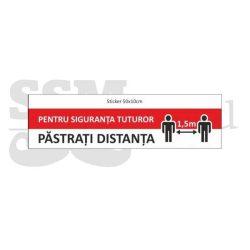 Sticker de podea 30 x 30 Pastrati distanta 1,5 m