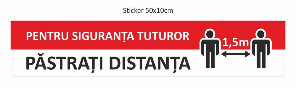 stickere_podea Pastrati distanta 1,5 m
