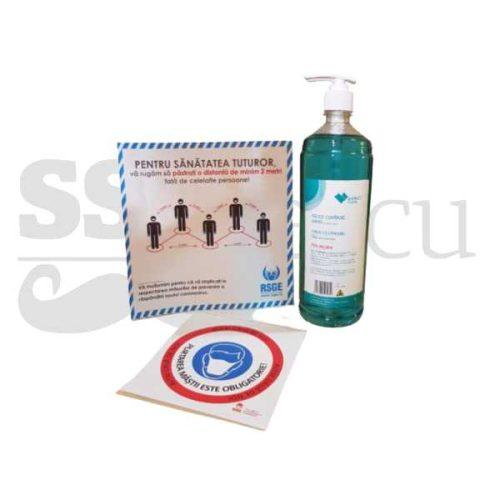 Pachet - dezinfectant 1L + 2x autocolant