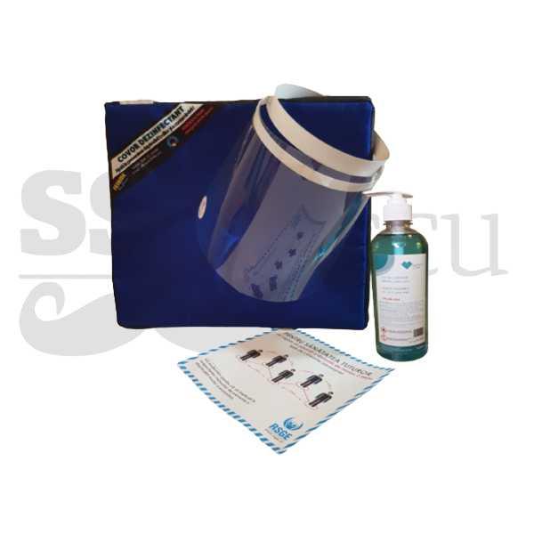 Set dezinfectant 1L + covor dezinfectant + autocolant + viziera