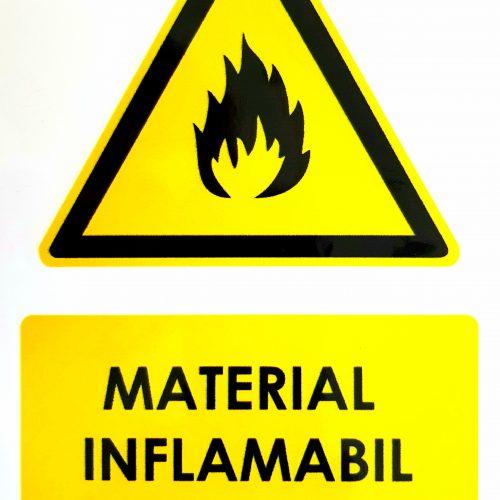 SEMNALIZARE SSM Material inflamabil