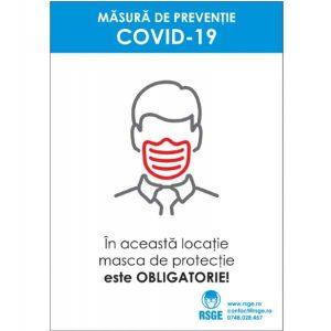 masca de protectie este obligatorie