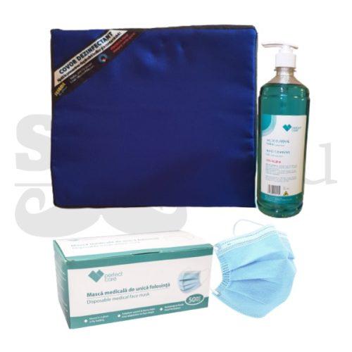 Set Protectie Covid 19 - Dezinfectant, Covor, Masca