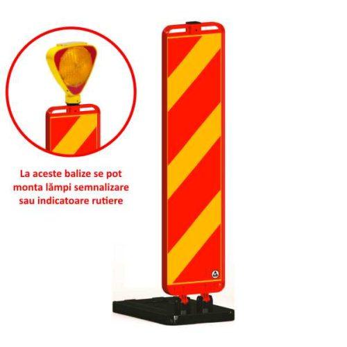 Baliza flexibila 120cm pentru lucrări cu soclu pentru semne, lampi