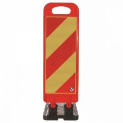 Baliza flexibila 70cm pentru lucrari (rosu-galben)
