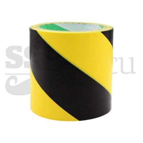Banda adeziva pentru marcare-10cm x 25m - galben/negru
