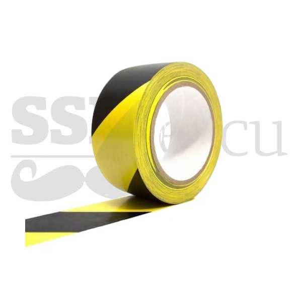 Banda adeziva pentru marcare - 5cm x 25m - galben/negru