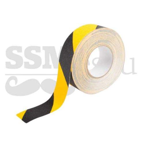Banda galben-negru autoadeziva antialunecare - 5cm x 25m