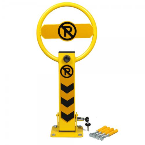 Blocator parcare forma sferica inchidere cu cheie