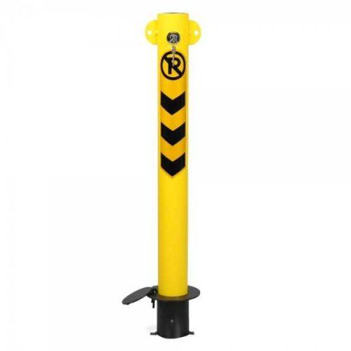 Blocator pentru parcare inchidere cu cheie si prindere in beton