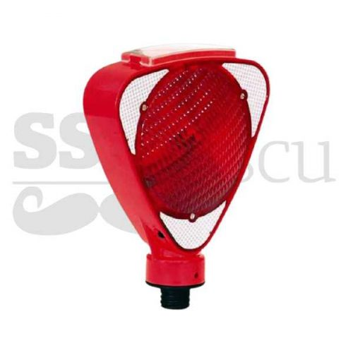 Lampa solara pentru semnalizare - rosu