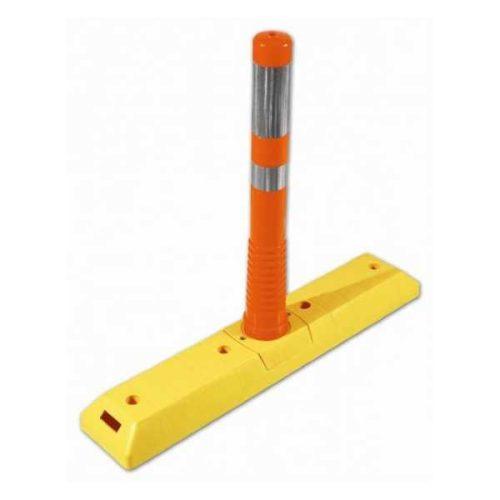 Separator de sensuri cu stalp flexibil portocaliu