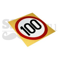 Autocolant reflectorizant Limitare de viteza 100 km/h, D=130mm