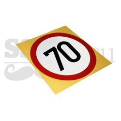 Autocolant reflectorizant Limitare de viteza 70 km/h, D=130mm
